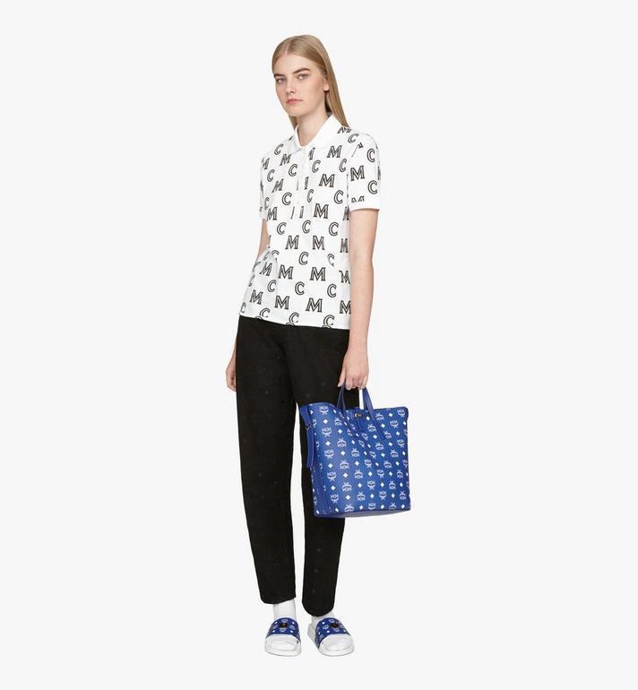 MCM Gunta Shopper in Visetos Blue MWPASGU01H1001 Alternate View 8