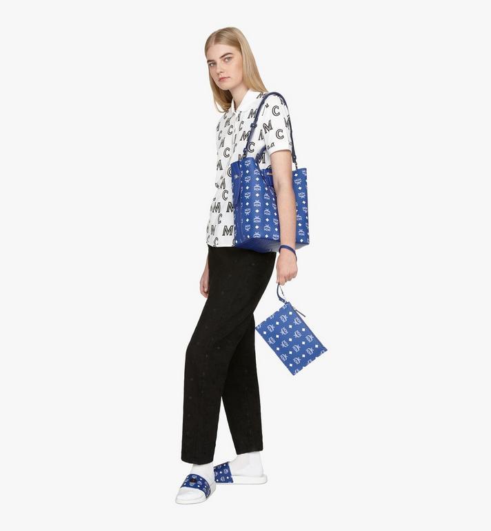 MCM Gunta Shopper in Visetos Blue MWPASGU01H1001 Alternate View 9
