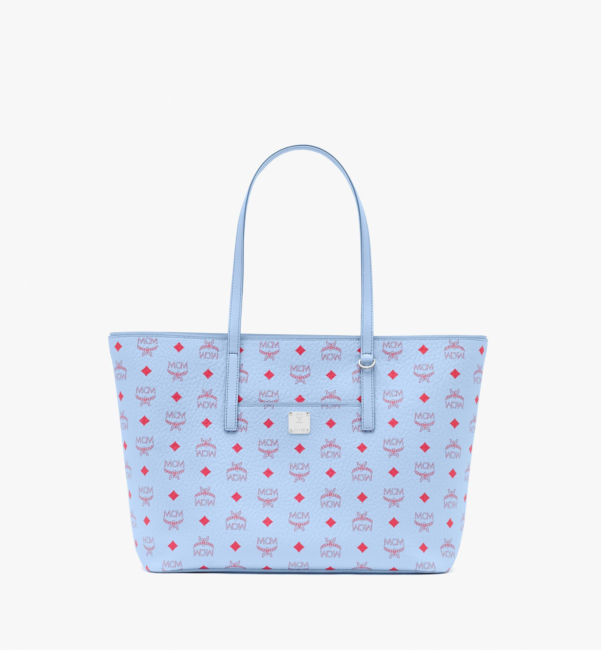 MCM Anya Shopper in Visetos Blue MWPASVI01H2001 Alternate View 1