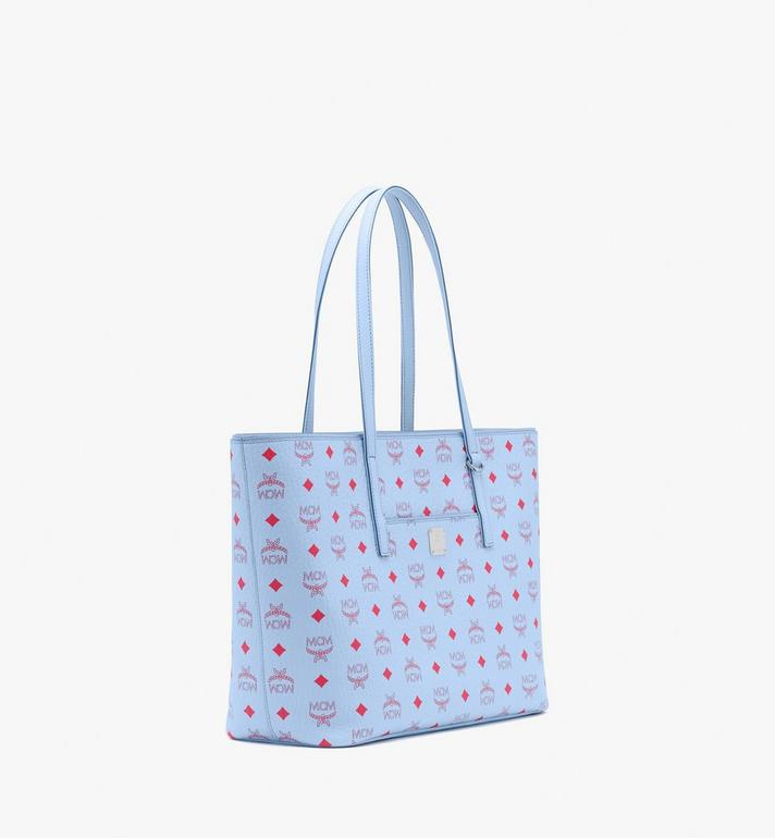 MCM Anya Shopper in Visetos Blue MWPASVI01H2001 Alternate View 2