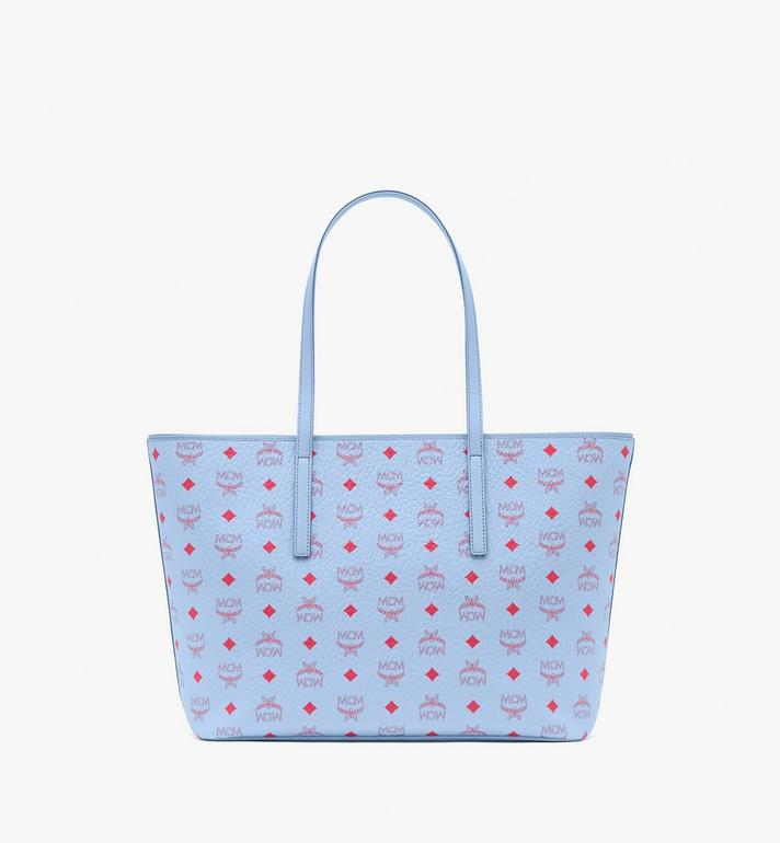 MCM Anya Shopper in Visetos Blue MWPASVI01H2001 Alternate View 4