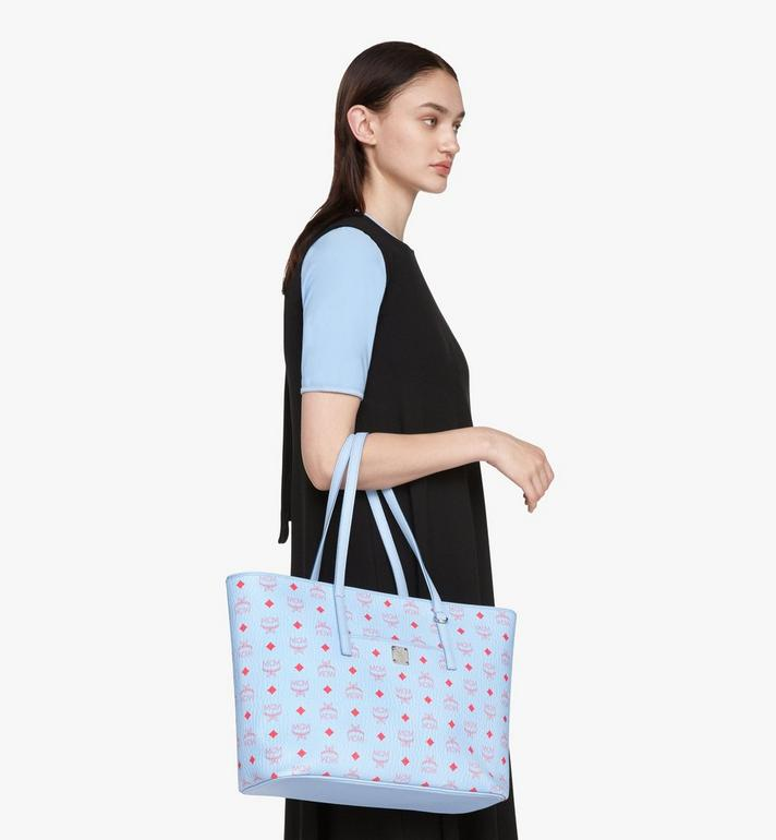 MCM Anya Shopper in Visetos Blue MWPASVI01H2001 Alternate View 7