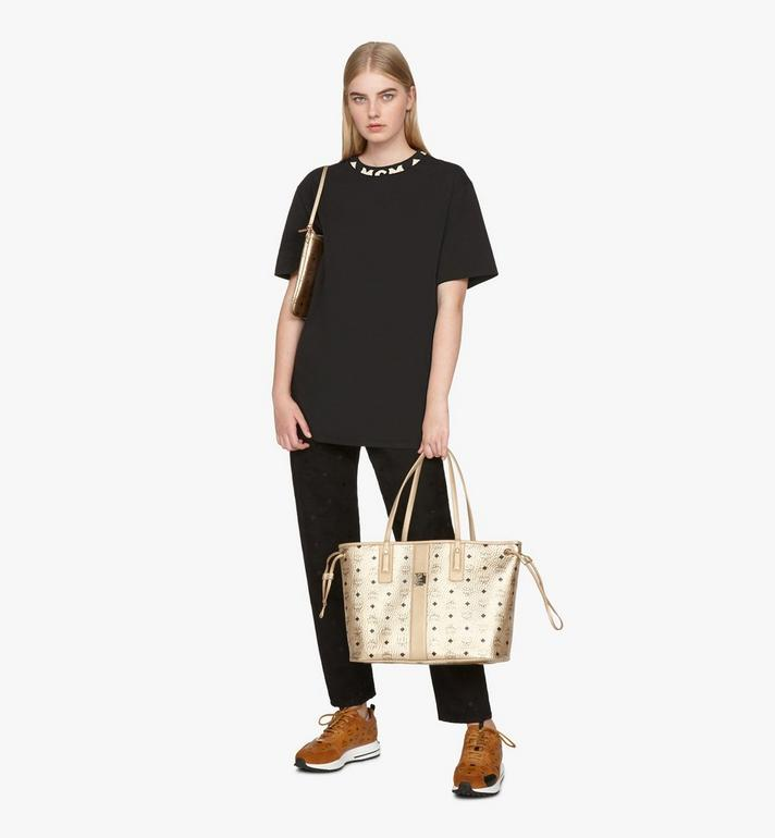 MCM Liz Reversible Shopper in Visetos Gold MWPASVI02T1001 Alternate View 7