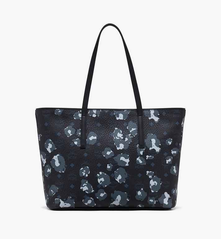 MCM Anya Shopper in Floral Leopard Black MWPASVI03B1001 Alternate View 3