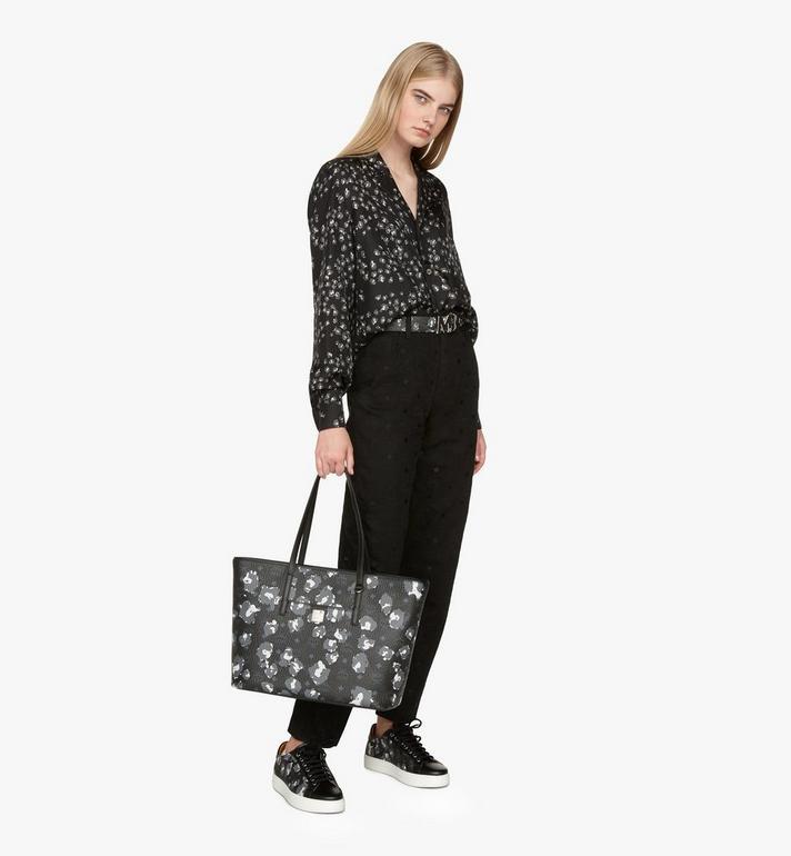 MCM Anya Shopper in Floral Leopard Black MWPASVI03B1001 Alternate View 5