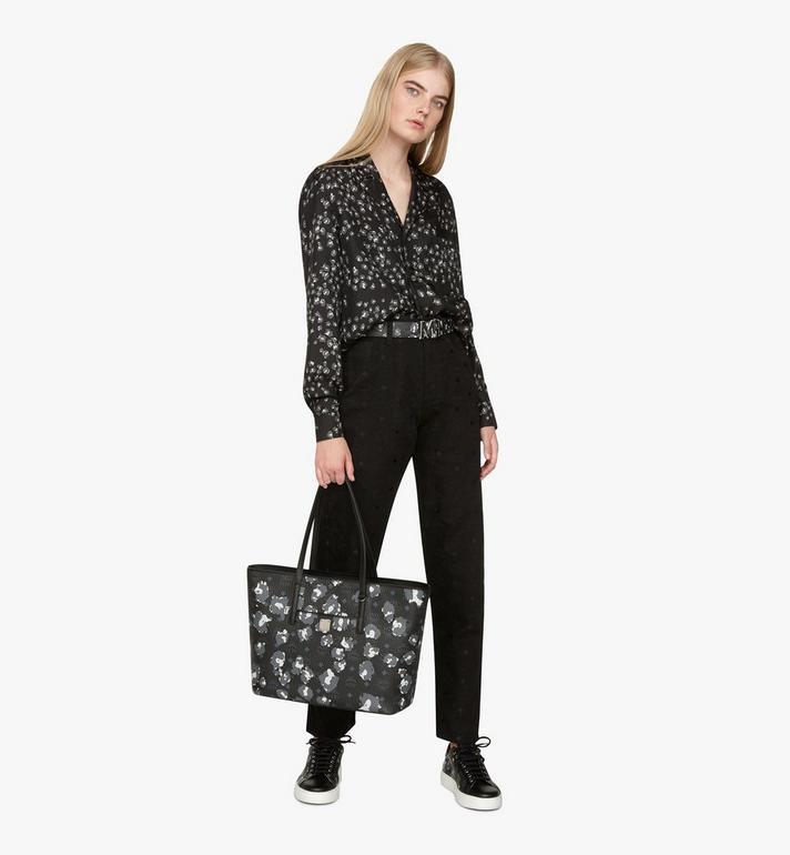 MCM Anya Shopper in Floral Leopard Black MWPASVI03B1001 Alternate View 6