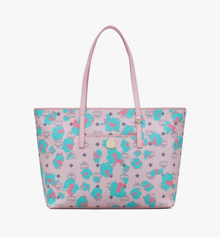 MCM Anya Shopper in Floral Leopard Alternate View