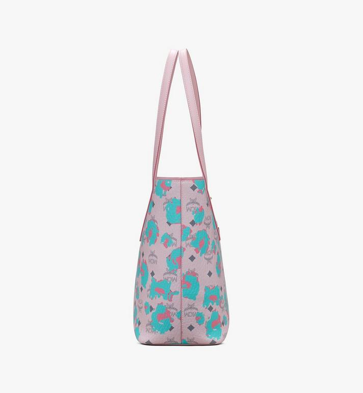 MCM Anya Shopper in Floral Leopard Pink MWPASVI03QI001 Alternate View 2