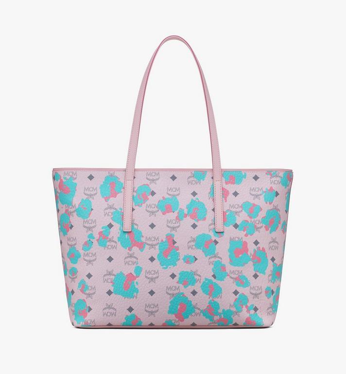 MCM Anya Shopper in Floral Leopard Pink MWPASVI03QI001 Alternate View 3
