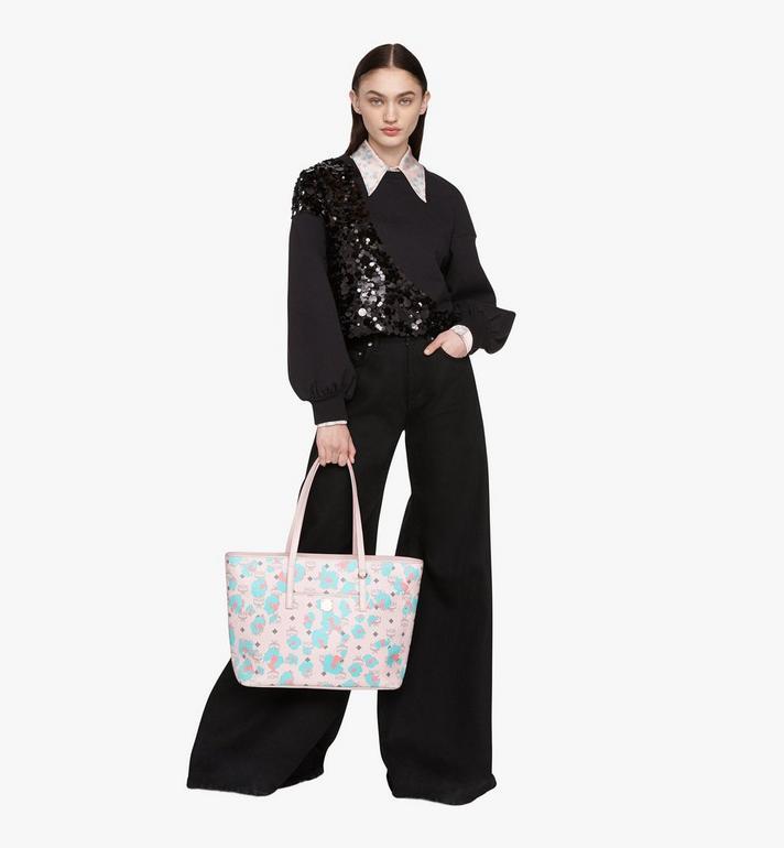 MCM Anya Shopper mit geblümtem Leopardenmuster Pink MWPASVI03QI001 Alternate View 5