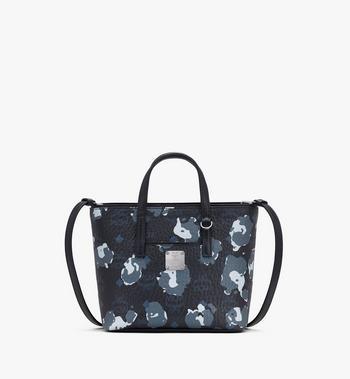 MCM Anya Mini-Shopper mit geblümtem Leopardenmuster Alternate View