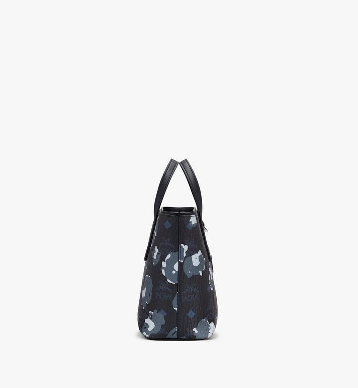 MCM Mini Anya Shopper in Floral Leopard Black MWPASVI04B1001 Alternate View 2