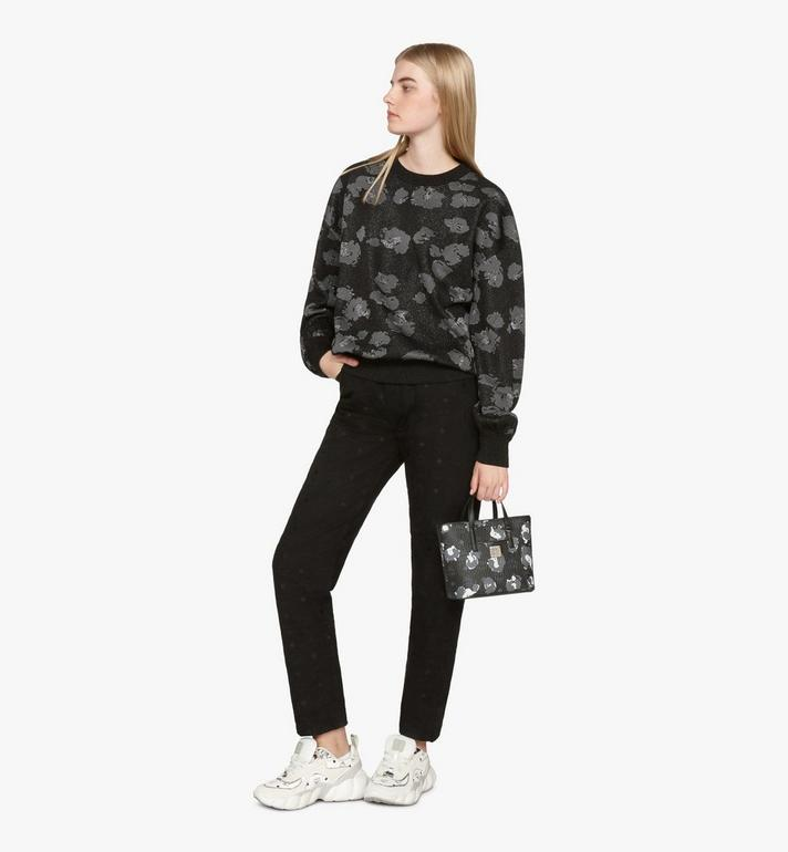 MCM Mini Anya Shopper in Floral Leopard Black MWPASVI04B1001 Alternate View 6