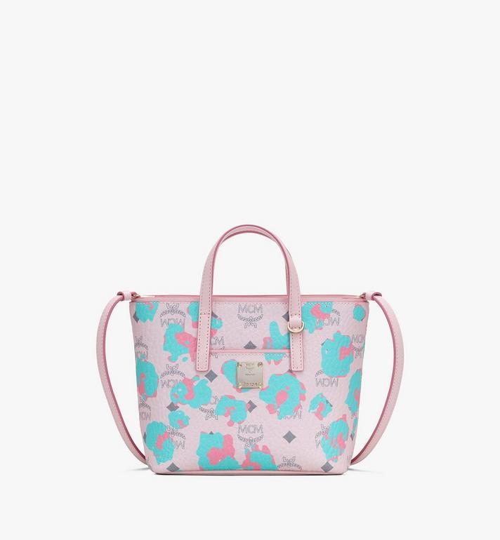 MCM Mini Anya Shopper in Floral Leopard Alternate View