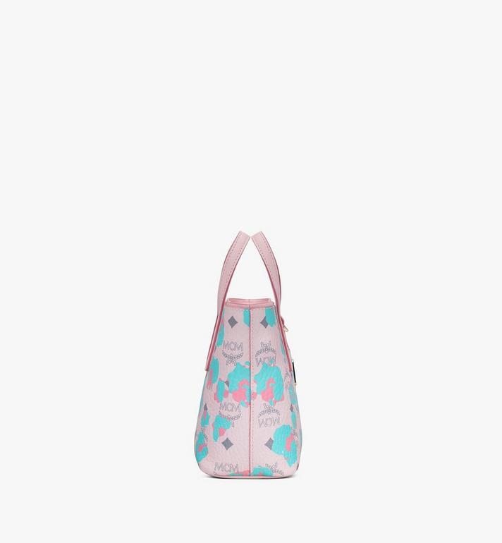MCM Mini Anya Shopper in Floral Leopard Pink MWPASVI04QI001 Alternate View 2