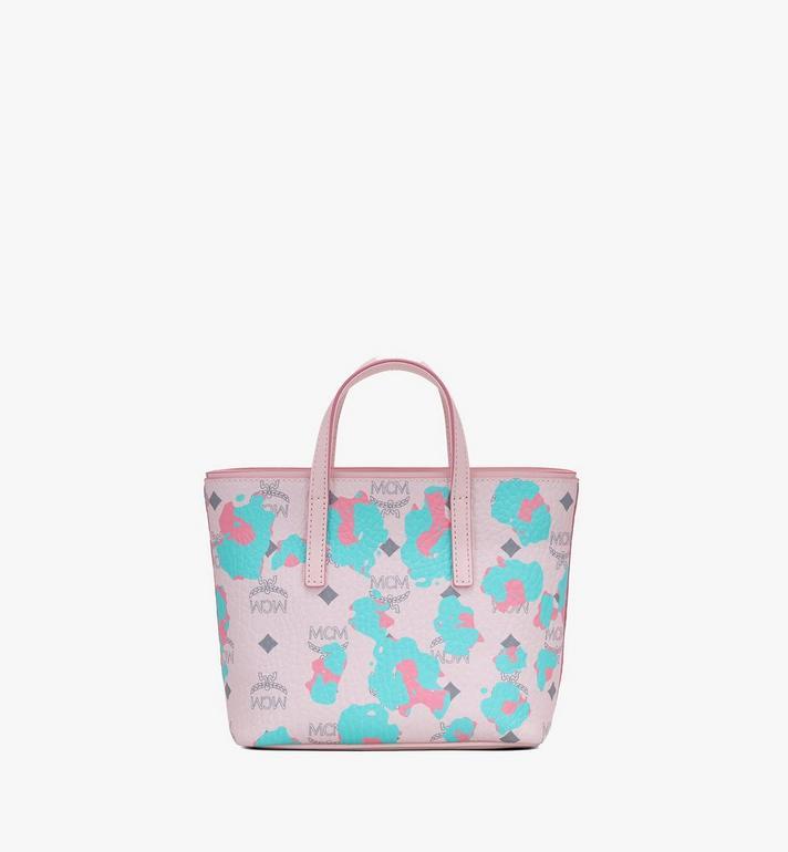 MCM Mini Anya Shopper in Floral Leopard Pink MWPASVI04QI001 Alternate View 3