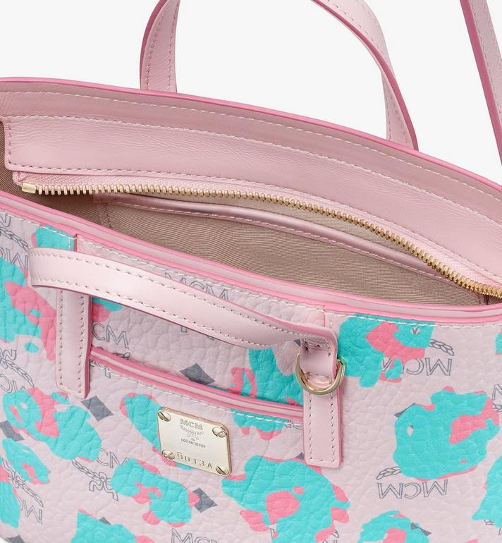 MCM Mini Anya Shopper in Floral Leopard Pink MWPASVI04QI001 Alternate View 4