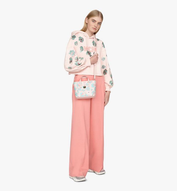 MCM Mini Anya Shopper in Floral Leopard Pink MWPASVI04QI001 Alternate View 5