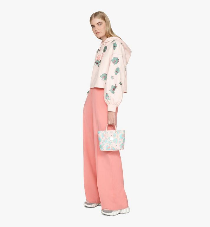 MCM Mini Anya Shopper in Floral Leopard Pink MWPASVI04QI001 Alternate View 6