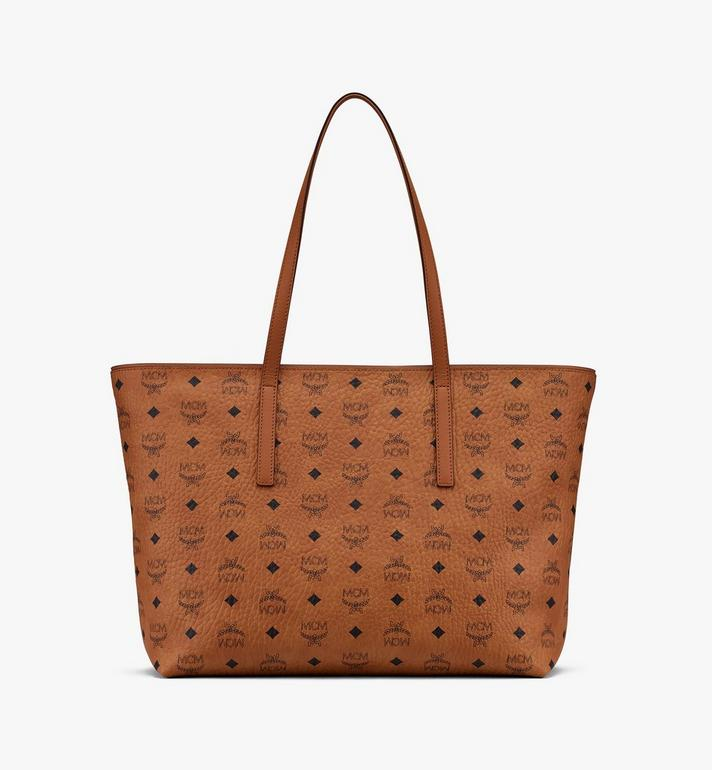 MCM Year Of The Mouse Anya Shopper in Visetos Cognac MWPASVI05CO001 Alternate View 3