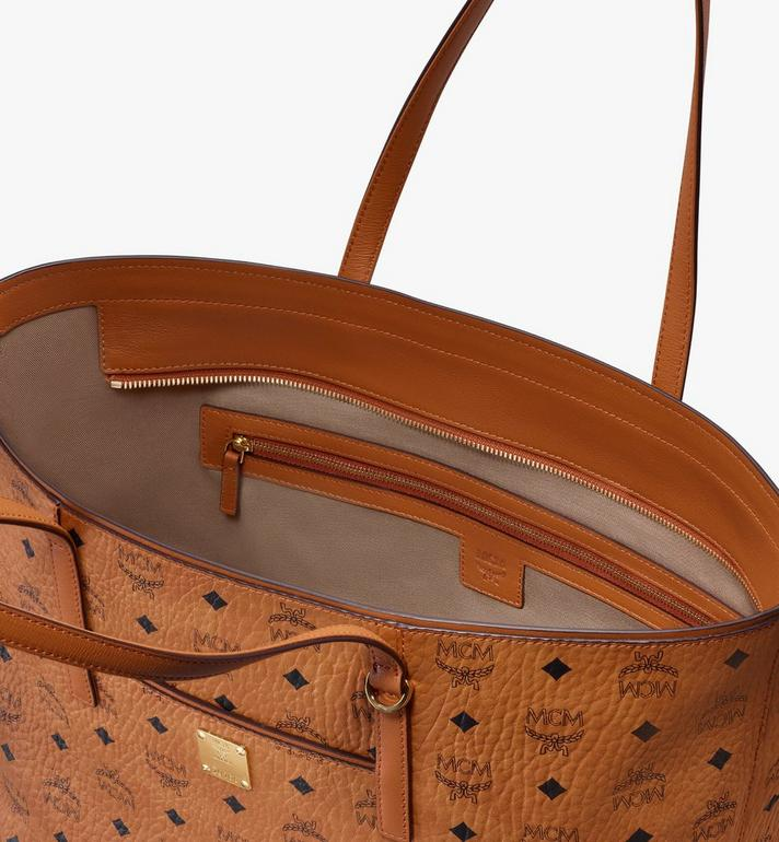 MCM Year Of The Mouse Anya Shopper in Visetos Cognac MWPASVI05CO001 Alternate View 4