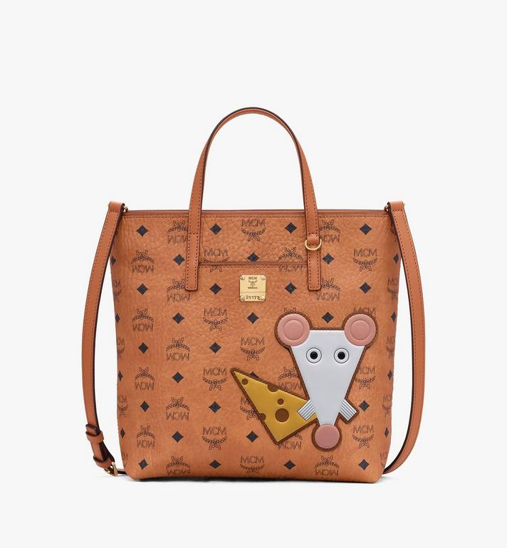 MCM Visetos 系列的鼠年 Anya Shopper 包款 Cognac MWPASVI06CO001 Alternate View 1
