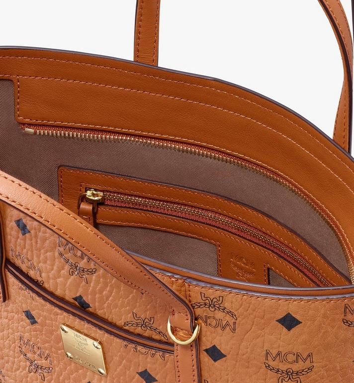 MCM Year Of The Mouse Anya Shopper in Visetos Cognac MWPASVI06CO001 Alternate View 4