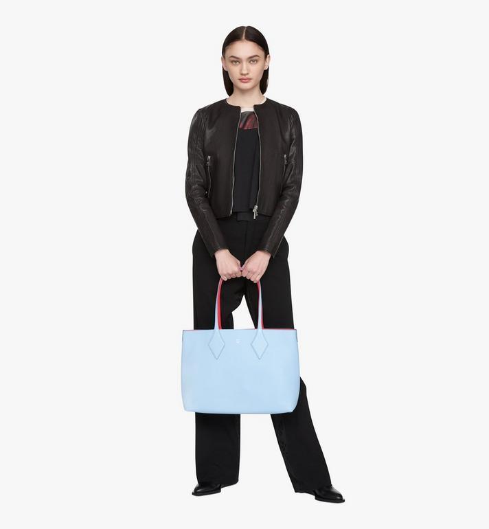 MCM Reversible Shopper in Tani Leather Blue MWPASXS01H2001 Alternate View 7