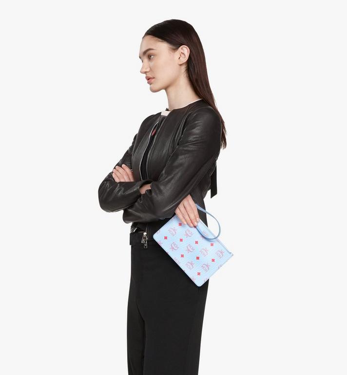 MCM กระเป๋าช็อปเปอร์ใช้ได้สองด้าน Tani ทำจากหนัง Blue MWPASXS01H2001 Alternate View 9