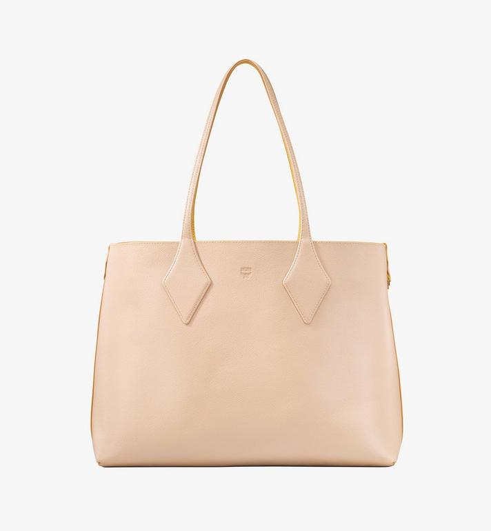 MCM Reversible Shopper in Tani Leather Pink MWPASXS01YQ001 Alternate View 2