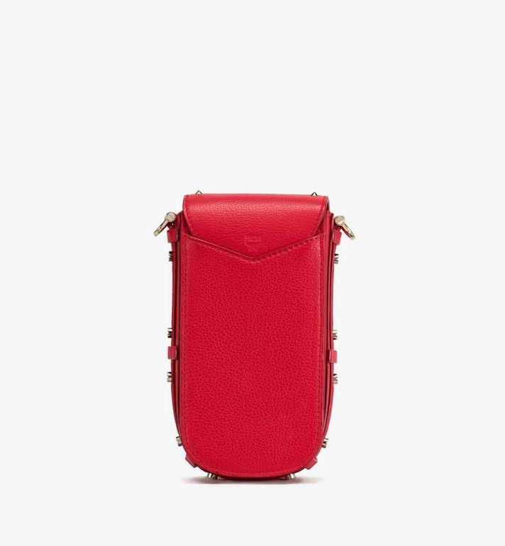 MCM Patricia Park Avenue 鉚釘皮革斜背包 Red MWR0SPA01R4001 Alternate View 3