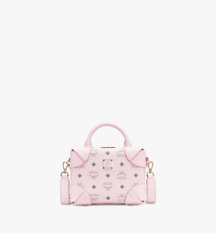 MCM Soft Berlin NS Crossbody Bag in Visetos Pink MWR8ABF12QH001 Alternate View 1