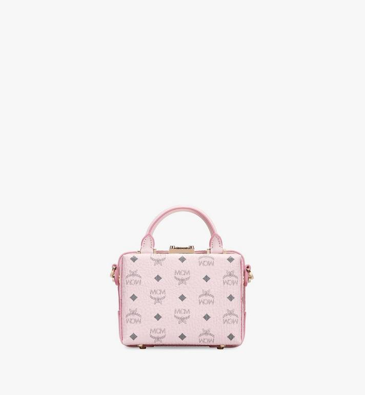 MCM Soft Berlin NS Crossbody Bag in Visetos Pink MWR8ABF12QH001 Alternate View 3