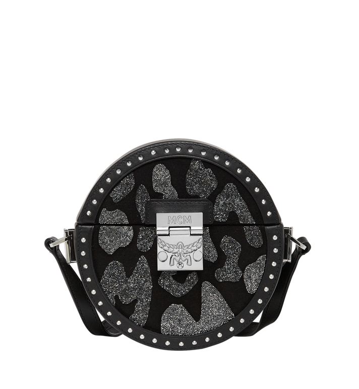 MCM Berlin Tambourine Crossbody in MCM Leopard Crystal Alternate View