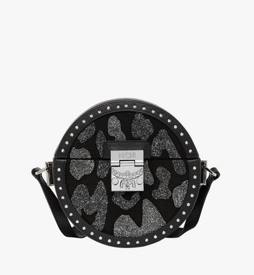 Berlin Tambourine Crossbody in MCM Leopard Crystal