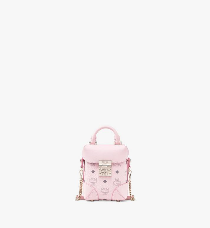MCM Soft Berlin NS Crossbody Bag in Visetos Pink MWR9ABF14QH001 Alternate View 1