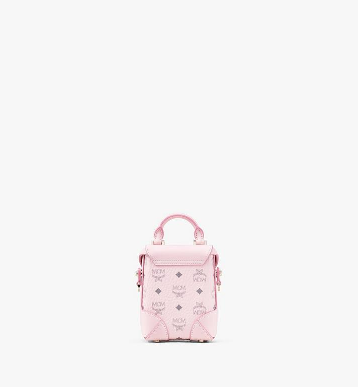 MCM Soft Berlin NS Crossbody Bag in Visetos Pink MWR9ABF14QH001 Alternate View 3