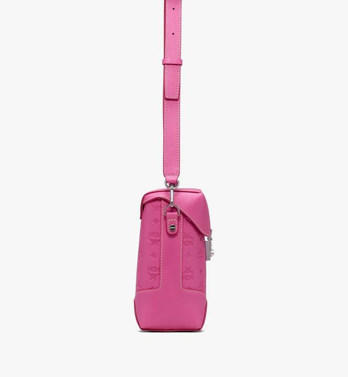 MCM Soft Berlin Crossbody Bag in Monogram Leather Pink MWR9ABF24QS001 Alternate View 2