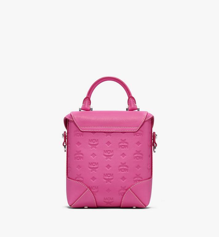 MCM Soft Berlin Crossbody Bag in Monogram Leather Pink MWR9ABF24QS001 Alternate View 3