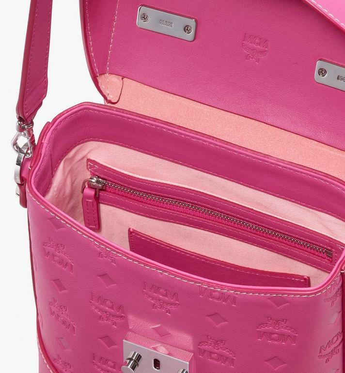 MCM Soft Berlin Crossbody Bag in Monogram Leather Pink MWR9ABF24QS001 Alternate View 4