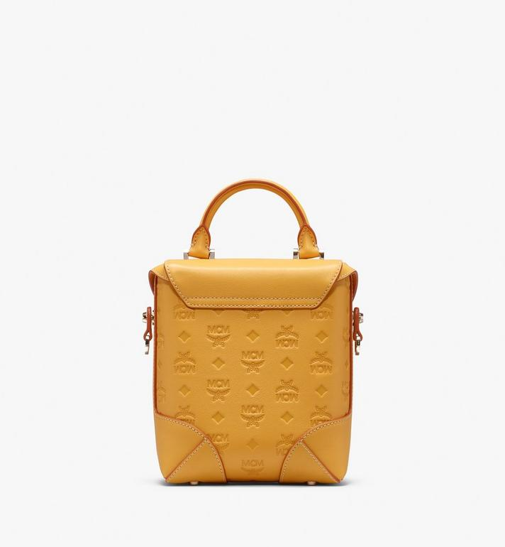 MCM Soft Berlin Crossbody Bag in Monogram Leather Yellow MWR9ABF24YJ001 Alternate View 3