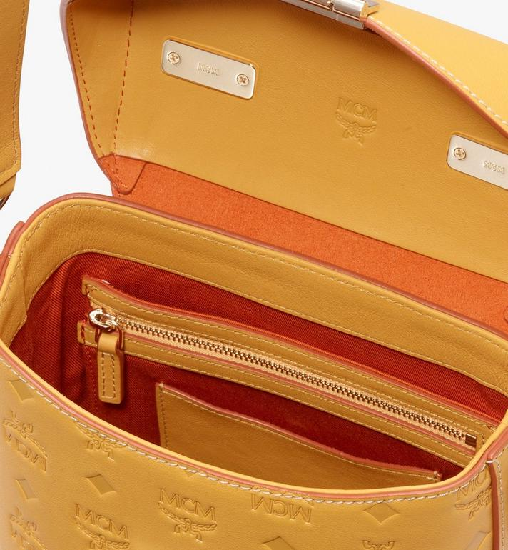 MCM Soft Berlin Crossbody Bag in Monogram Leather Yellow MWR9ABF24YJ001 Alternate View 4