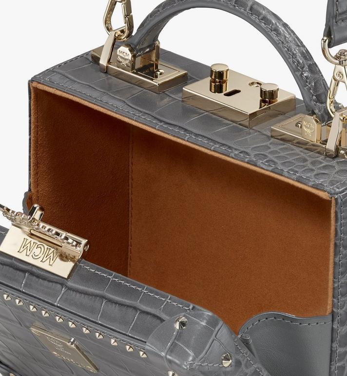 MCM Berlin Crossbody Bag in Embossed Crocodile Grey MWR9ABN91EC001 Alternate View 4