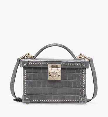 Berlin Crossbody Bag in Embossed Crocodile