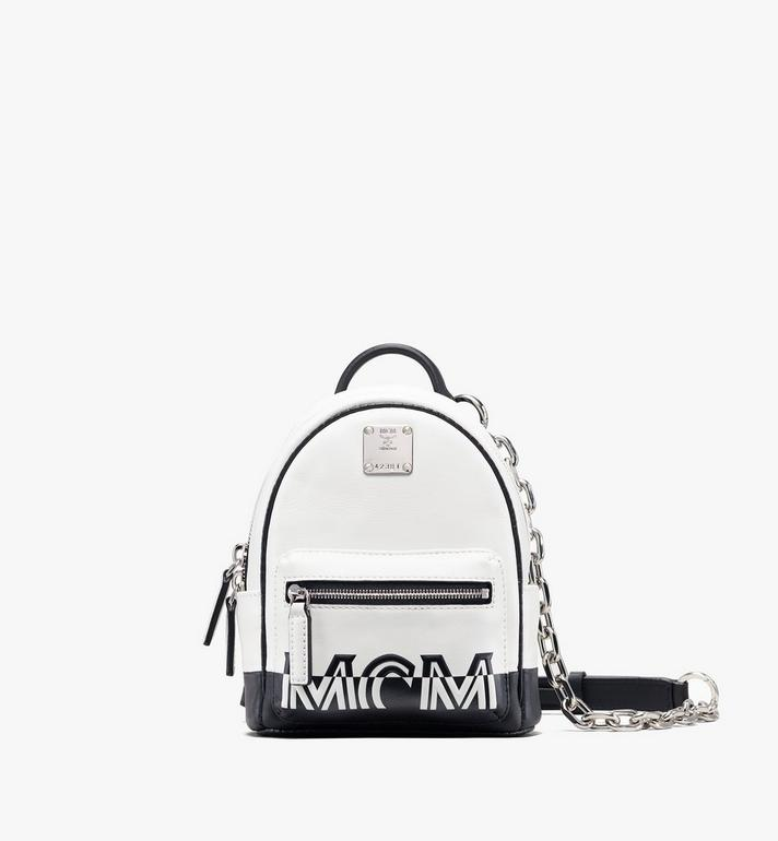 MCM Mini Crossbody in Contrast Logo Leather Alternate View