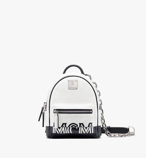 Mini sac à dos et à bandoulière avec logo contrastant