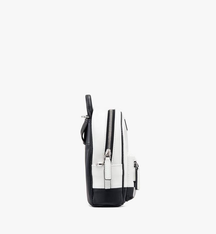 MCM Mini sac à dos et à bandoulière avec logo contrastant  MWR9ACL11WT001 Alternate View 2