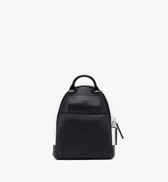 MCM Mini sac à dos et à bandoulière avec logo contrastant  MWR9ACL11WT001 Alternate View 3