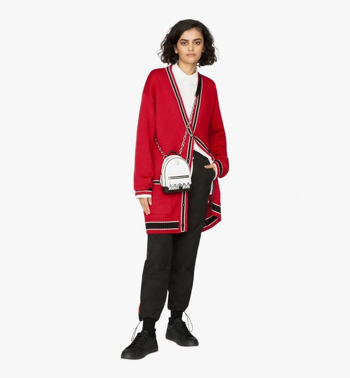 MCM Mini sac à dos et à bandoulière avec logo contrastant  MWR9ACL11WT001 Alternate View 5