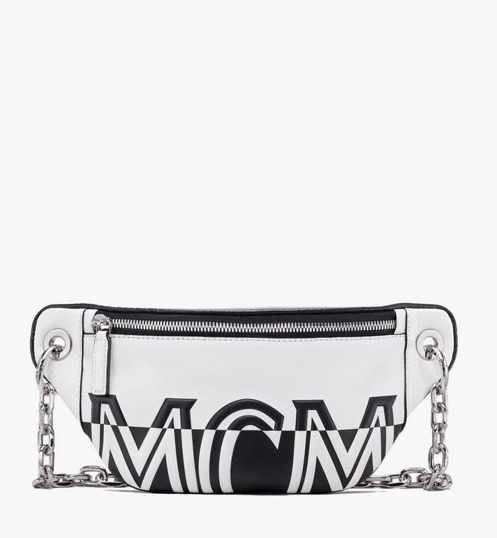 MCM Mini Crossbody Bag in Contrast Logo Leather Alternate View